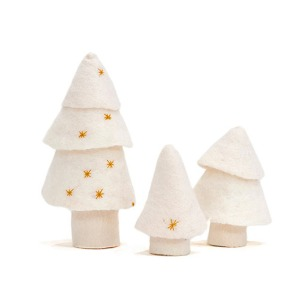 Christmas Tree Set of 3 Natural