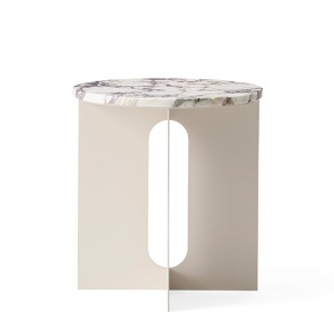 Androgyne Side Table Calacatta Viola Marble Top