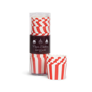 Baking Cup Red Stripes