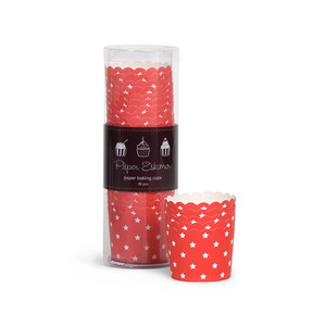Baking Cup Red Stars