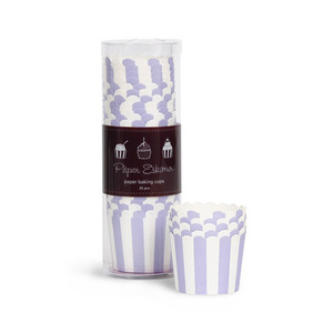 Baking Cup Lilacberry Stripes