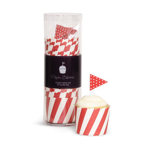 Baking Cup Toppers Red Candy Stripes