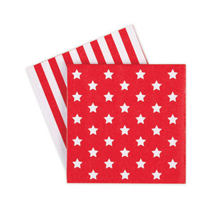 Paper Napkins Red Star