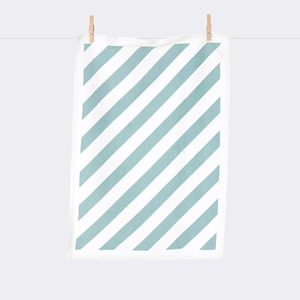 Stripe Tea Towel - Mint