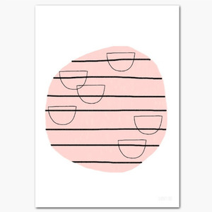 A5 Abstract Circle Postcard (30% sale)