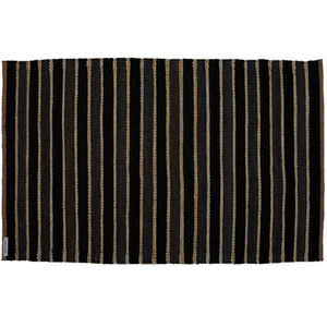 Strokes Black and Charcoal Rug