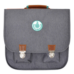 Cartable Vintage Gris arc en ciel