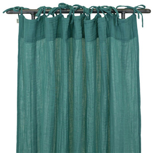 Flat Curtain Aqua Blue