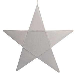 Star Lantern Silver Grey Medium