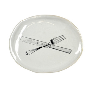 Souvenir Oval Plate Medium Cutlery 4월말  입고예정
