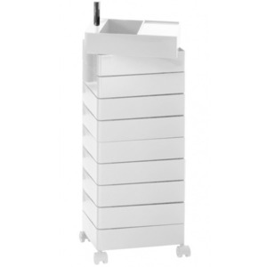 360° Container 10 Drawers White