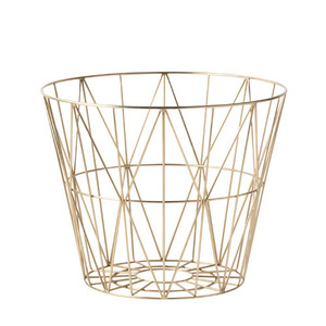 Wire Basket Brass Small
