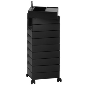 360° Container 10 Drawers Black
