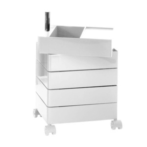 360° Container 5 Drawers White
