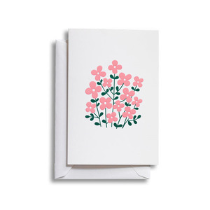 Greeting Card Medium Flower Bush