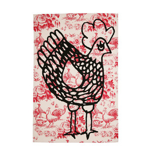 Tea towel -Cocotte red (50% sale)