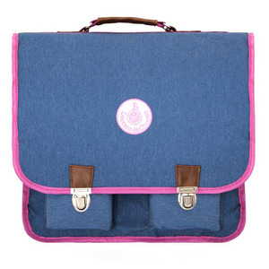 Cartable Vintage Grand Jean Band Rose
