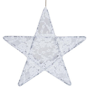 Star Lantern White Lace Medium