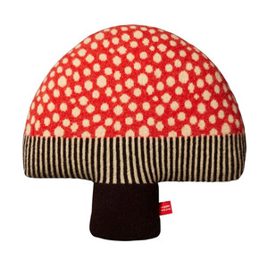 Mushroom Cushion Red