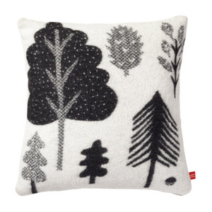 Forest Woven Cushion Black/White