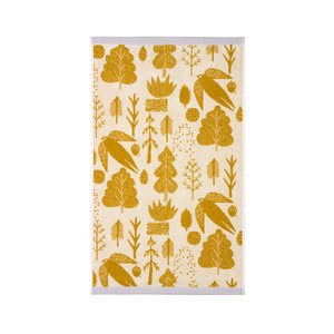 Bird & Tree Hand Towel Mustard