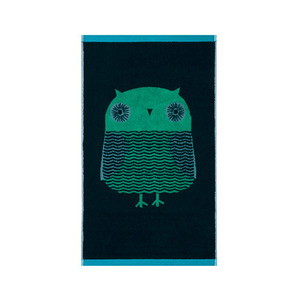 Owl Hand Towel Green
