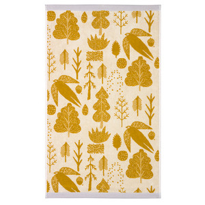 Bird & Tree Bath Towel Mustard