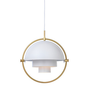 Multi-Lite Pendant Brass base/White
