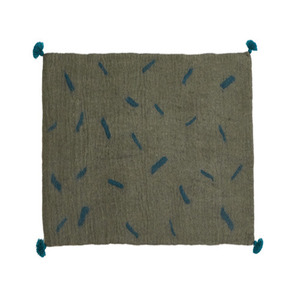 Tikka Rug Mineral grey/Duck blue (30% sale)