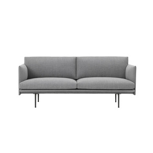 Outline Sofa 2-Seater/Black Base Textile