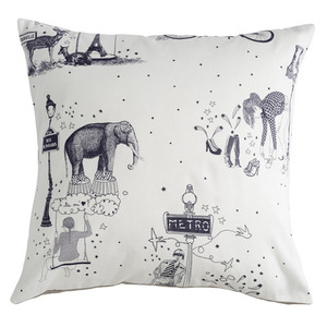Cushion toile de Jouy grey  (30% sale)