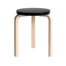 Stool 60 Black/Birch