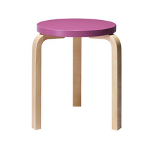 Stool 60 Purple/Birch