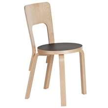 Chair 66 Black Linoleum/Birch  [주문후 5개월 소요]