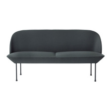 Oslo Sofa 2-Seater Steelcut 180/Dark Grey Legs