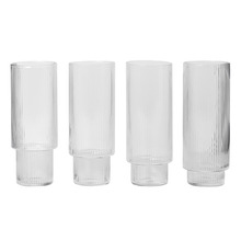Ripple Long Drink Glasses Set of 4 [주문 후 3개월 소요]