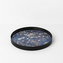 Coupled Tray Round Blue Large