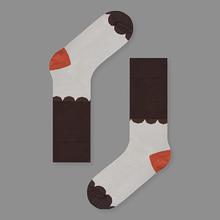 KBP X Socks Appeal Lace Brown Socks