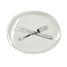 Souvenir Oval Plate Medium Cutlery