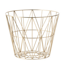 Wire Basket Brass Medium  (30% sale)