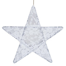 Star Lantern White Lace Medium (50% sale)