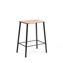 Adam Stool Oak/Matt Black H50