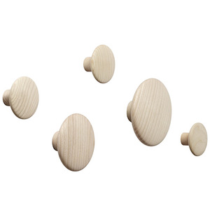 Dots Wood Set of 5 Oak