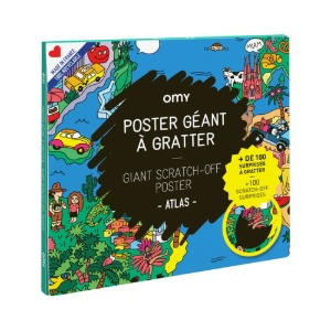 Giant Scratch-Off Poster Atlas