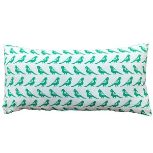 Cushion With Filler Big Green Birds