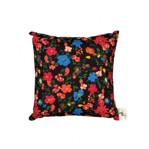 Cushion With Filler Grey Flowers