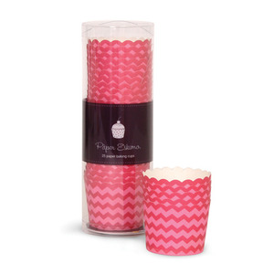 Baking Cup Berry Pink Chevron